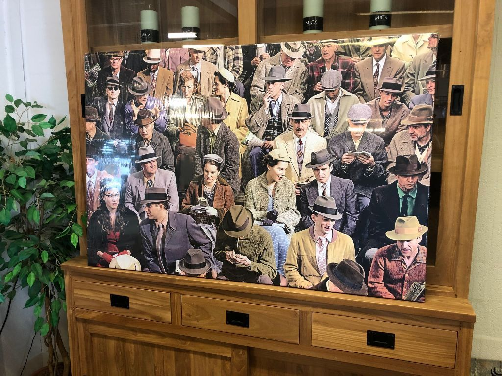 Wall Deco  120x80 cm. op canvas:  Day at the races